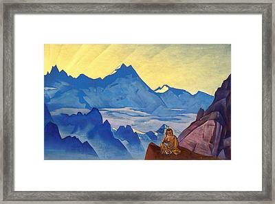 Milarepa - The One Who Harkened Framed Print by Nicholas Roerich