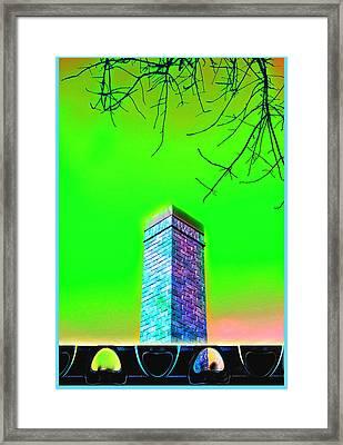 Mildrena's Chimney - Branches Framed Print by Wendy J St Christopher