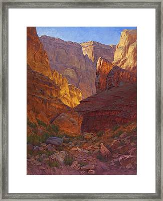 Mile 202 Canyon Framed Print