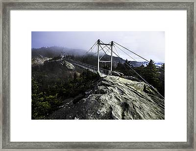 Mile High Bridge-grandfather Mountain Framed Print