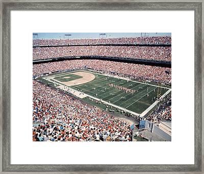Mile High Stadium Denver Broncos Vintage Framed Print