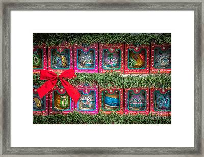 Mile Marker 0 Christmas Decorations Key West 4 - Hdr Style Framed Print by Ian Monk