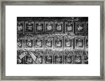 Mile Marker 0 Christmas Decorations Key West - Black And White Framed Print by Ian Monk