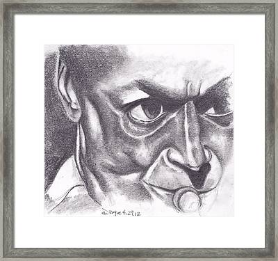 Miles At Work Framed Print by Dallas Roquemore
