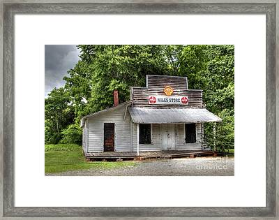 Miles Country Store Framed Print by Benanne Stiens
