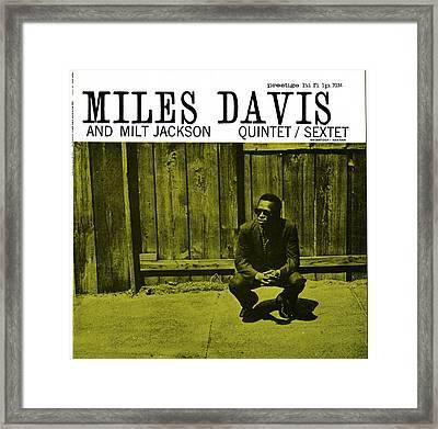 Miles Davis And Milt Jackson -  Quintet Sextet Framed Print