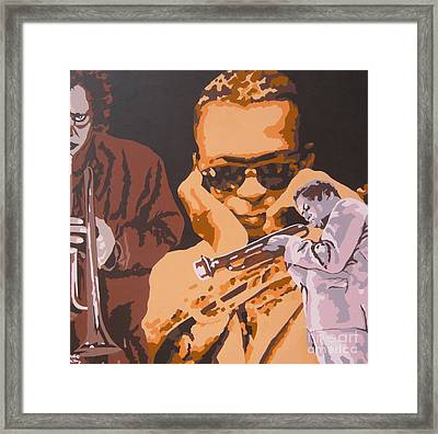 Miles Davis I Framed Print by Ronald Young