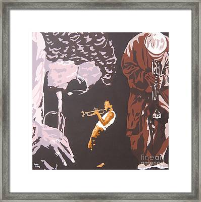 Miles Davis II Framed Print by Ronald Young
