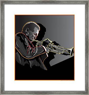 Miles Davis Legendary Jazz Musician Framed Print by Larry Butterworth