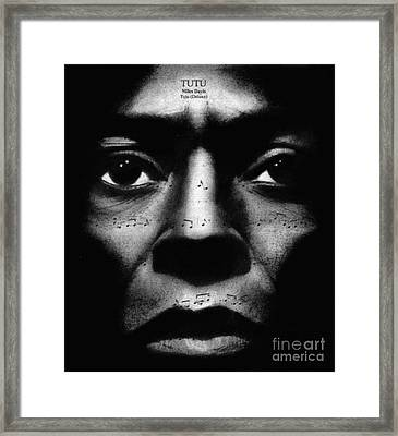 Miles Davis Tutu Framed Print by Michael Cross
