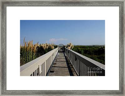 Miles Of Boardwalk Framed Print by Michael Grubb