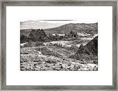Miles Of Mountains Framed Print by John Rizzuto