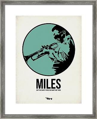 Miles Poster 1 Framed Print by Naxart Studio