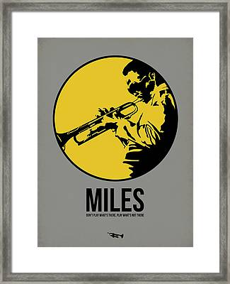Miles Poster 3 Framed Print by Naxart Studio