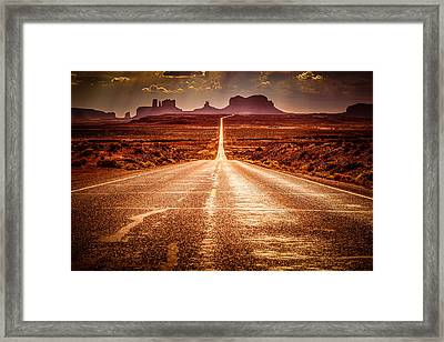 Miles To Go Special Request Framed Print by Jennifer Grover