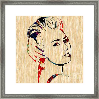 Miley Cyrus Collection Framed Print