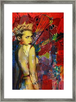 Miley Cyrus Framed Print by Corporate Art Task Force
