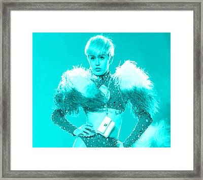 Miley Cyrus Do My Thang Framed Print by Brian Reaves