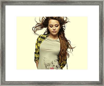 Miley Cyrus  Framed Print by Movie Poster Prints