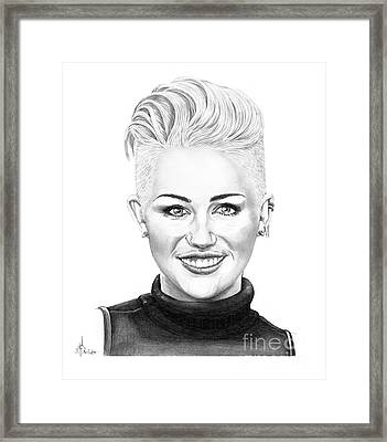 Miley Cyrus New Look Framed Print