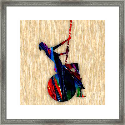 Miley Cyrus Wrecking Ball Framed Print by Marvin Blaine