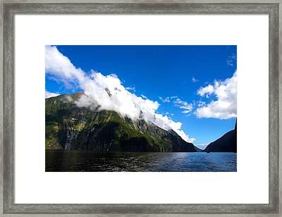 Framed Print featuring the photograph Milford Sound #2 by Stuart Litoff