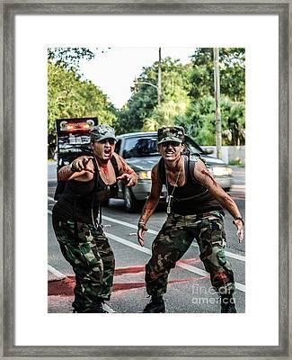 Militant Zombies Framed Print by Renee Barnes