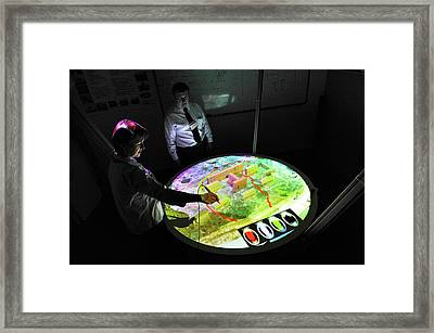 Military Conflict Simulation Framed Print