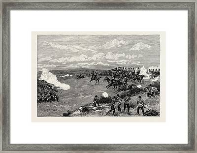 Military Manoeuvres At Aldershot A Sham Fight Squares Framed Print by English School