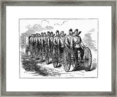 Military Multicycle Framed Print