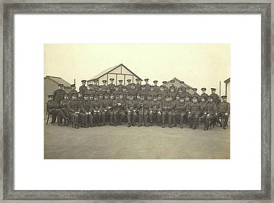 Military Officers On The Roof Of King Framed Print by Stocktrek Images
