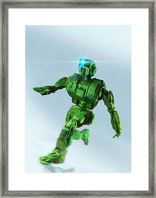 Military Robot Framed Print by Victor Habbick Visions