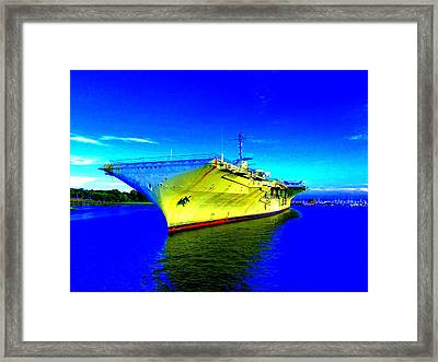 Military Ship 2 Framed Print by Ron Kandt