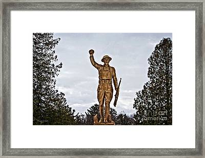 Military Soldier Memorial Framed Print by Ms Judi