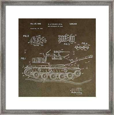Military Tank Patent Framed Print by Dan Sproul