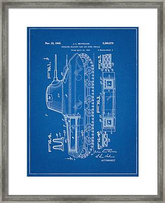 Military Tank Patent Framed Print by Decorative Arts