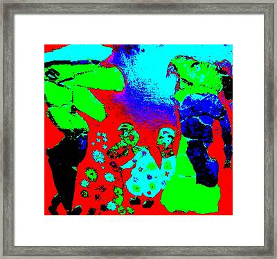 Military People Also Get Children  Framed Print