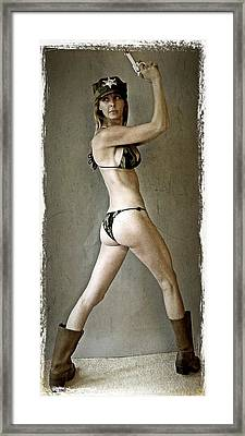 Military Woman 2 Framed Print by Lisa Piper