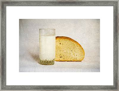 Milk And Bread Framed Print by Alexander Senin