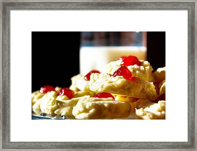 Milk And Cookies Framed Print by Cheryl Baxter
