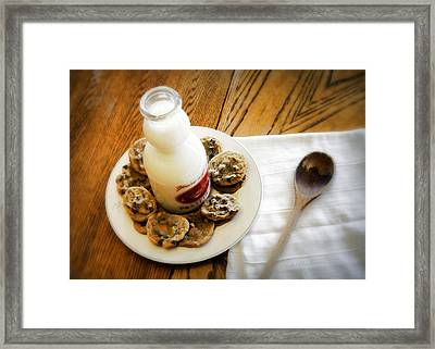 Milk And Cookies Framed Print by Cricket Hackmann