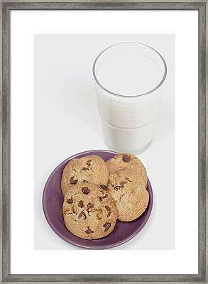 Milk And Cookies Framed Print by Greenwood GNP