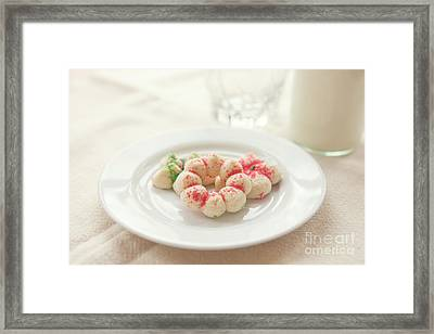 Milk And Cookies Framed Print by Kay Pickens