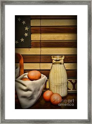 Milk And Eggs Framed Print by Paul Ward