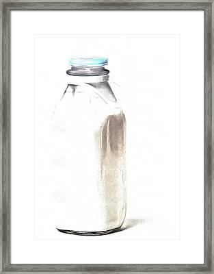 Milk Bottle Framed Print by Edward Fielding
