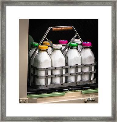 Milk Bottles Framed Print