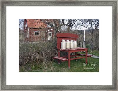 Milk Cans Framed Print