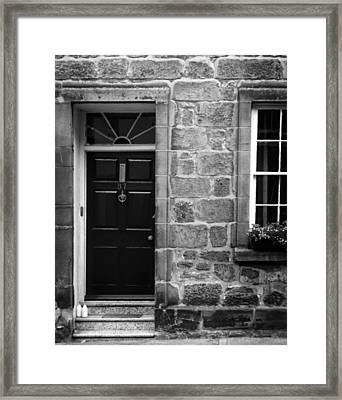 Milk Delivery In Black And White Framed Print
