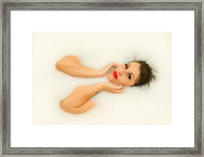 Milk Framed Print by Marlo Horne