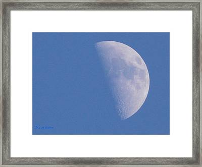 Framed Print featuring the photograph Milk Moon  by Deborah Moen